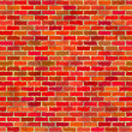 Tuğla duvar, kesintisiz — Stok fotoğraf