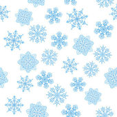 Snowflakes figured, seamless — Stock Photo