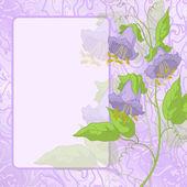 鲜花、 框架和曲线 — 图库矢量图片