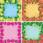 Backgrounds, frames from flowers — Stock Photo