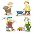 Stock Vector: Cartoon: gardeners work