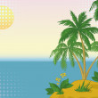 Island with palm and sun — Stock Photo #11660852