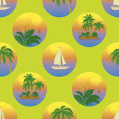Seamless tropical background — Stock Vector