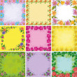 Backgrounds, frames from flowers - Stock Photo