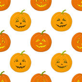 Pumpkins Jack O Lantern, seamless background — Stock vektor