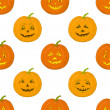Pumpkins Jack O Lantern, seamless background — Foto de Stock