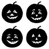 Pumpkins Jack O Lantern, silhouettes — Stock Photo