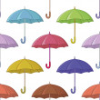 Stock Vector: Umbrella, seamless background