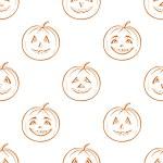 Pumpkins Jack O Lantern, seamless background — Stock Photo #12241614