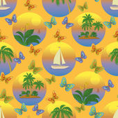 Seamless tropical background — Stock Photo