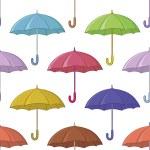 Umbrella, seamless background — Stock Photo