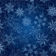 Snowflakes, seamless Christmas background — Stock Photo