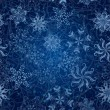 Stock Photo: Snowflakes, seamless Christmas background
