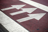Pedestrian crossing with road marking — Stock Photo