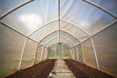 Empty small greenhouse — Stock Photo