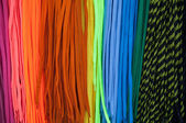 Colorful shoe laces — Stock Photo