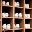 Stockfoto: Bowling shoes on racks