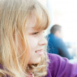 Profile portrait of a little blond girl — Stock Photo