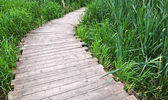 Old planked footway — Stock Photo