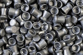 Pile of lead air-gun pellets — Stock Photo