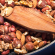 Royalty-Free Stock Photo: Roasted mixed nuts on frying pan