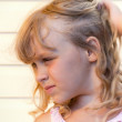 Profile portrait of a little blond beautiful girl — Stock Photo #12035273