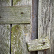 Vintage wooden gate primitive catch - Foto de Stock