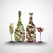 Flaschen und gläser — Stockvektor