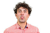 Man wincing — Stock Photo