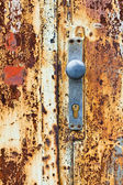 Door and lock — Stock Photo