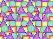 Geometrical figures - seamless — Stock Vector