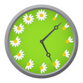 Daisy clock — Stock Vector