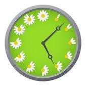 Daisy clock — Stock Vector