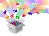Email inbox — Stock Vector