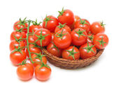 Cherry tomatoes on a white background close-up — Stock Photo