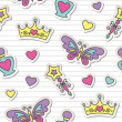Princess pattern — Vector de stock #10795218