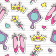Princess pattern — Vector de stock #10795225