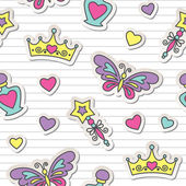 Princess pattern — Vector de stock