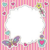 Roze frame — Stockvector