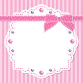 Pink frame with bow — Stock Vector