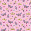 Stock vektor: Princess seamless pattern