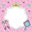 Princess frame - Stock Vector