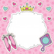 Stock Vector: Princess frame