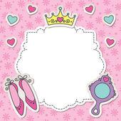 プリンセス フレーム — ストックベクタ