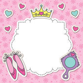 Princess frame — Stock Vector