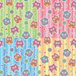 Patterns of cartoon owls — Stock Vector