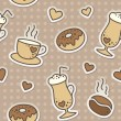 Stock Vector: Coffee pattern