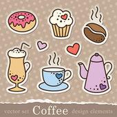 Coffee stickers — Stock Vector