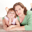 Girl with her Mom — Stock Photo #10972285