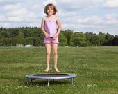 Trampoline Girl — Stock Photo
